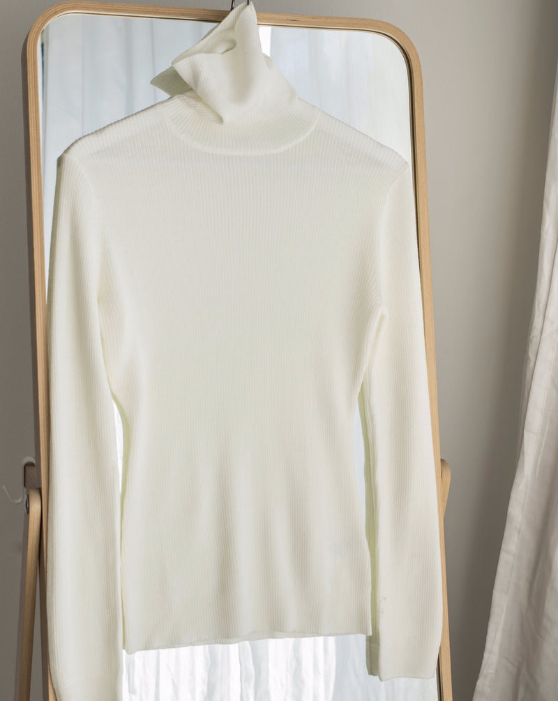 High neck merino - Cream