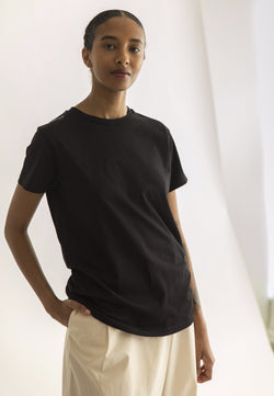 Cahis Basic Tee -  Black