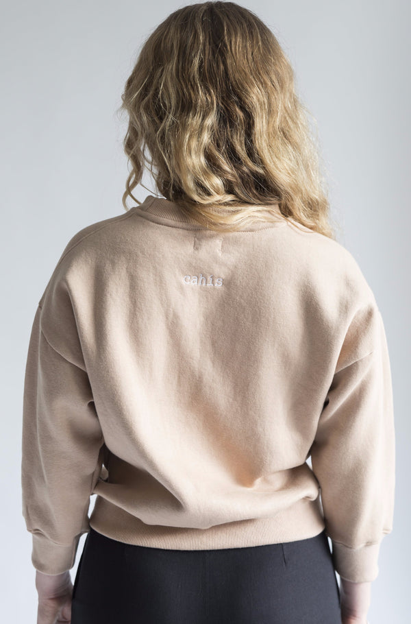 Cahis cropped sweater - Desert pink