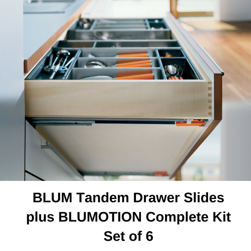 Blum Tandem Plus Blumotion Drawer Slides Complete Kit