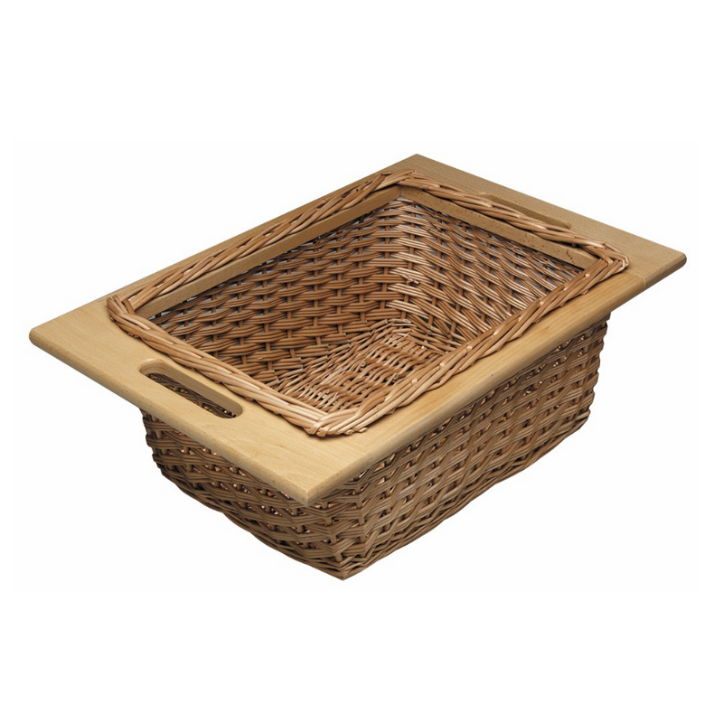 Wicker Basket, With Frame Handles by Hafele