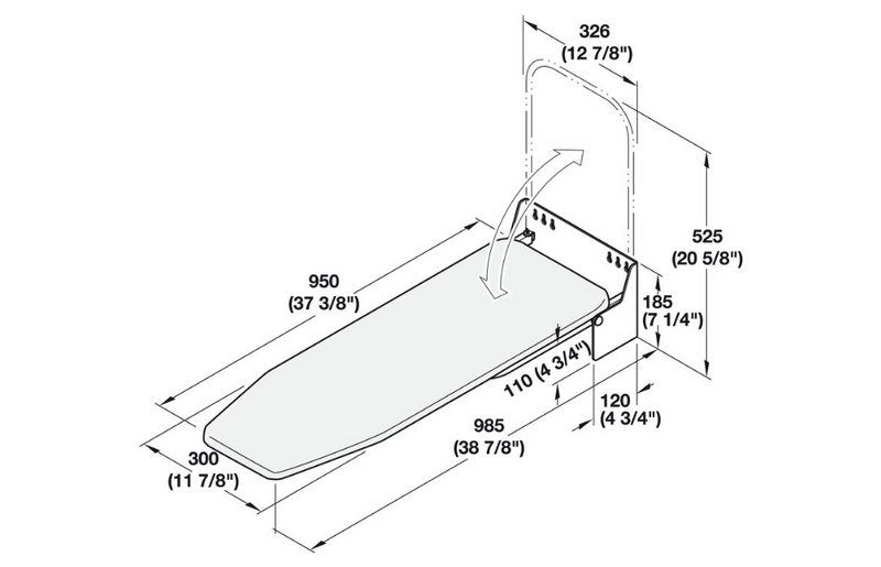 wall-mounted-ironing-board-dimensions