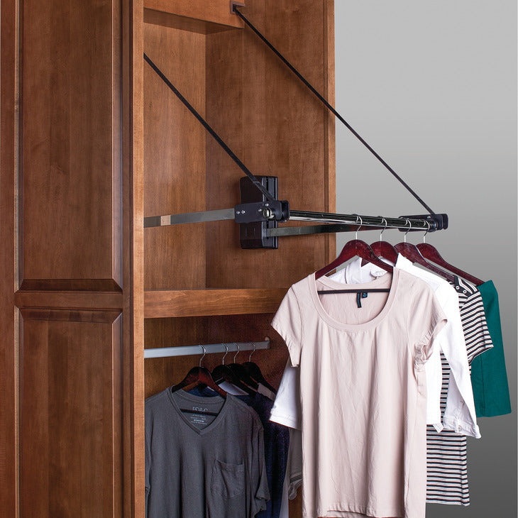 Motorized Closet Rod Pull Down by Hafele