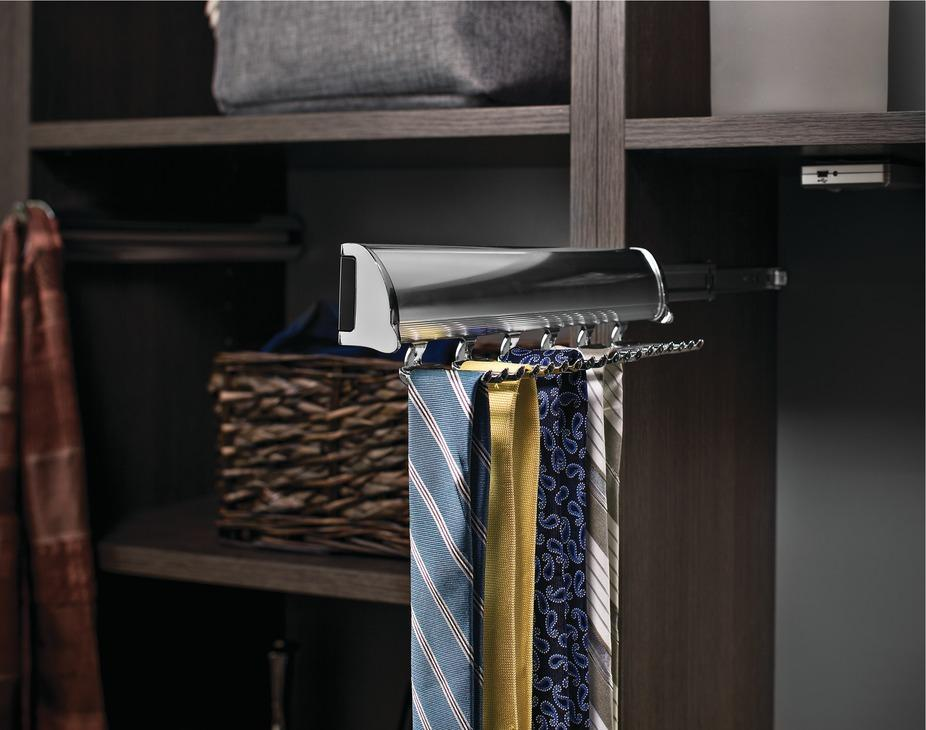 Tie Rack By Hafele 18 Hook Synergy Elite Collection