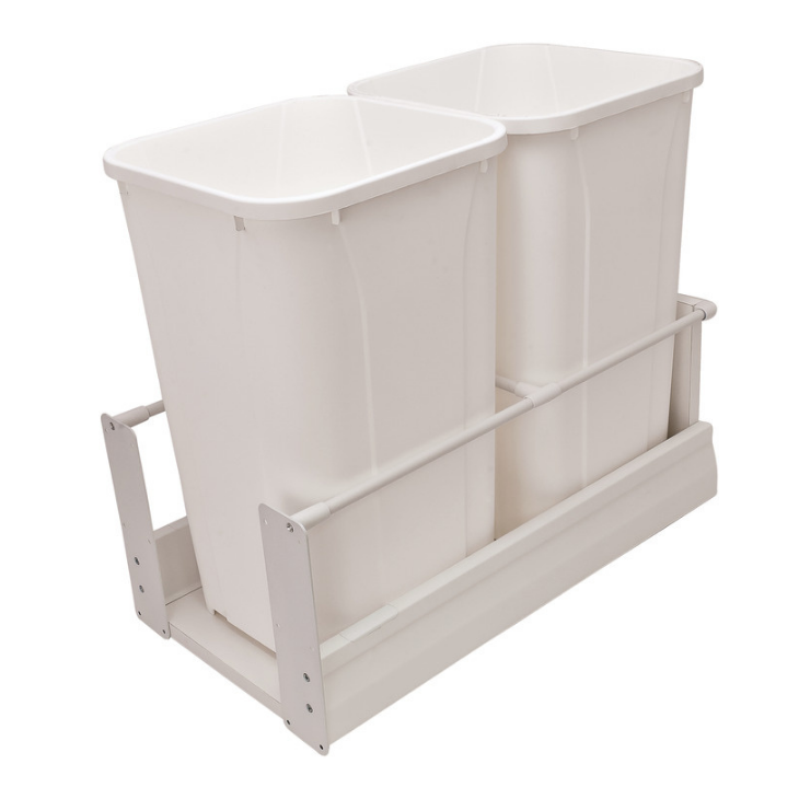 Hafele-Matrix-Waste Bin Pull-Out-white