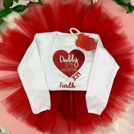 847943075f6ad Valentine Day Tutu Outfit - Occasionally Cute