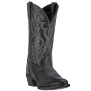 "WOMEN'S LAREDO 51110 11"" MADDIE BLACK LEATHER WIDE SQUARE TOE BOOT"