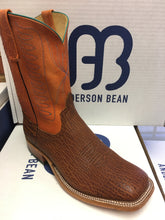"Anderson Bean Rust Shrunken Bison 10"" Wide Square toe"