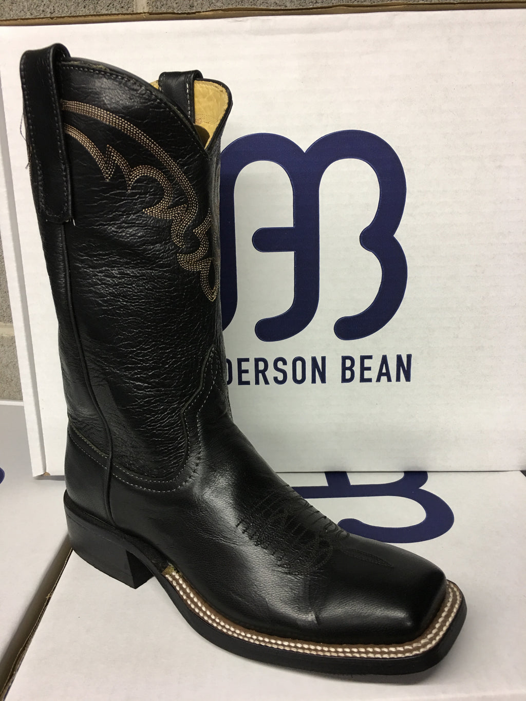 "Women's Anderson Bean ""Black Out"" 11"" Wide Square toe"