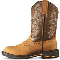 "Ariat 10007836 Children's Workhog 8"" Aged Bark Round toe"