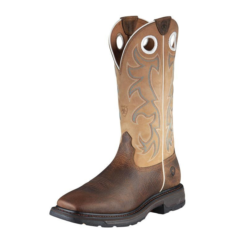 "Ariat 10008204 Workhog Tall 13"" Earth Brown Wide Square toe"