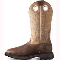 "Ariat 10008205 Workhog Tall Steel Toe 13"" Earth Brown Wide Square toe"