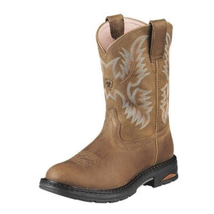 "Women's Ariat 10008634 Tracey WorkHog Pull-On Comp toe 9"" Dusted Brown"