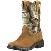 "Ariat 10011934 Children's Workhog Camo 8"" Aged Bark Wide Square toe *CLOSEOUT*"
