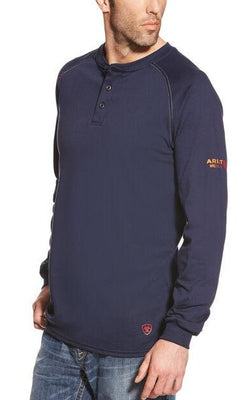 Ariat 10013518 MEN'S FR NAVY HENLEY TOP
