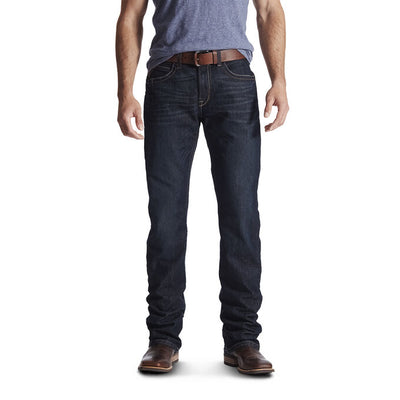 Ariat 10016220 MEN'S Rebar M4 Low Rise DuraStretch Edge Boot Cut Jean