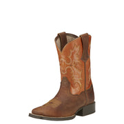 "Ariat 10016227 Children's Tombstone 8"" Powder Brown Wide Square toe"