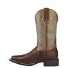 "Women's Ariat 10016317 Round Up II 11"" Yukon Brown Wide Square toe"