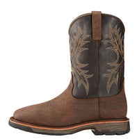 "Ariat 10017436 Workhog 11"" Waterproof Bruin Brown Wide Square Toe"