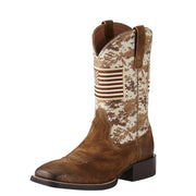 "Ariat 10019959 Sports Patriot 11"" Antq Mocha/Sand Camo Wide Square toe *CLOSEOUT*"