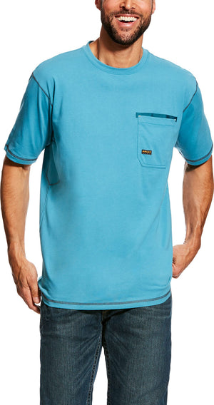 Ariat 10022424 MEN'S Rebar Larkspur/Blue T-Shirt