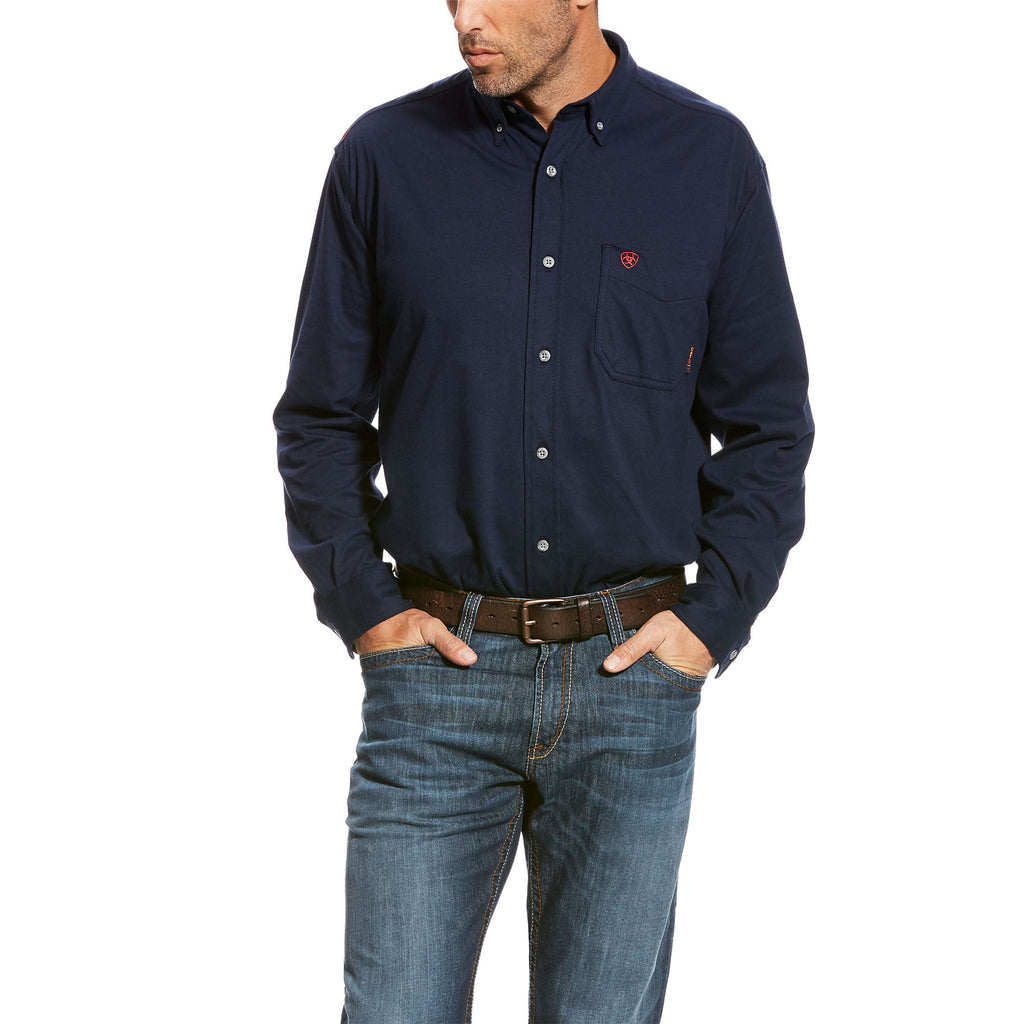 Ariat 10023944 MEN'S FR Navy AC Work Shirt