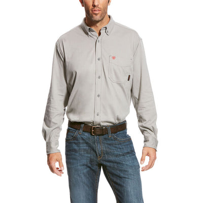 Ariat 10023947 MEN'S FR Silver Fox AC Work Shirt