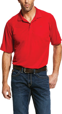 Ariat 10030793 MEN'S AC RED FLAG POLO SHORT SLEEVE SHIRT *Closeout*