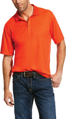 Ariat 10030825 Men's Tangerine Tek Polo