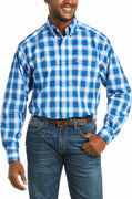 Ariat 10035066 Men's Pro Series Brosnan Blue Classic Fit Shirt