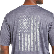 ARIAT 10035177 Charger Graystone Graphic Flag T-Shirt