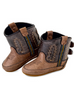 Old West 10102 Infant Brown Pull On