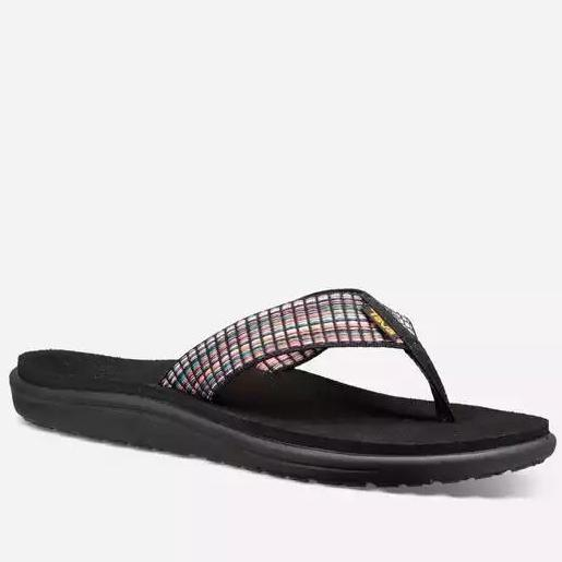 Women's Teva VOYA FLIP BAR STREET MULTI BLACK 1019040 *CLOSEOUT*