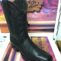 "MEN'S 11"" Black Ranch Hand Wide Square Toe"