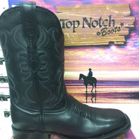 "MEN'S 11"" Black Ranch Hand Wide Square Toe *Closeout*"