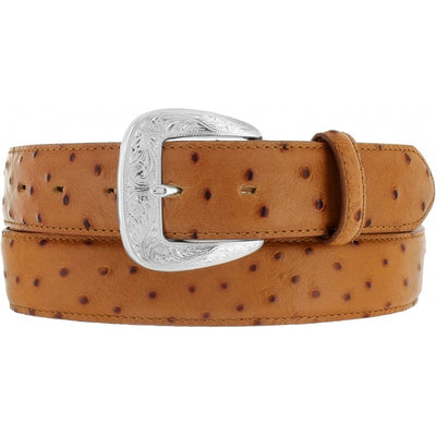 Tony Lama 1377L Tan Ostrich Print Dress Belt