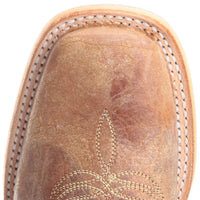 "Women's Tin Haul 14-021-0007-1337 BR ""CACTILICIOUS"" 13"" Tan Wide Square Toe"