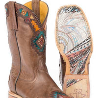 "Women's Tin Haul 14-021-0007-1322 TA ""Sunka Wakan"" 11"" Burnished Brown Wide Square Toe"