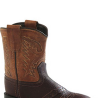 Old West 1936I Infant Chocolate Brown Round Toe