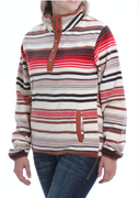Cinch MAK9820004 Women's Aztec Fleece Quarter Zip