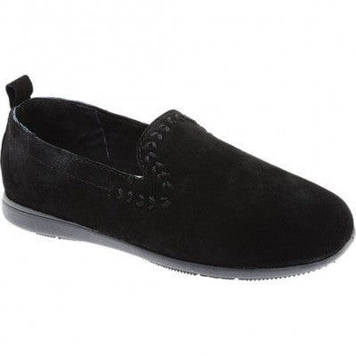 Women's Minnetonka Moccasin 69300 Shay Black Driving Moc *Closeout*