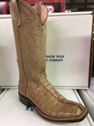 "Women's Anderson Bean Tan Hornback Caiman Tail 13"" Wide Square toe *CLOSEOUT*"
