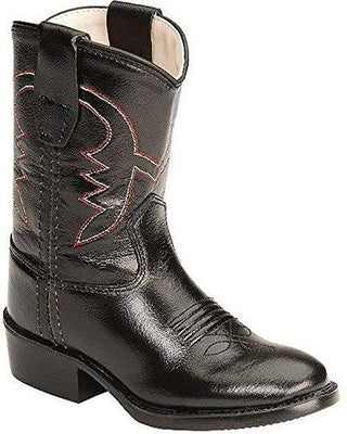 Old West 3110 Infant Black Round Toe