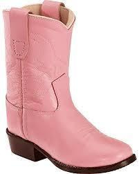 Old West 3119 Infant Pink Round Toe