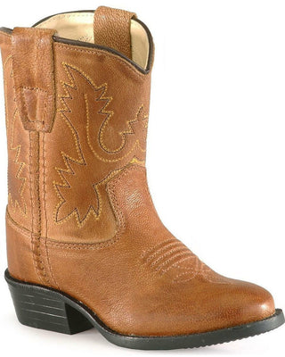 Old West 3129 Infant Tan Round Toe