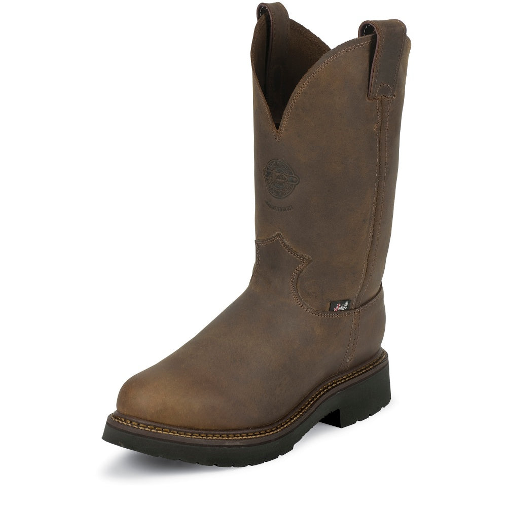 "Justin 4444 11"" Rugged Bay Gaucho with Deep Scallop Round Toe"
