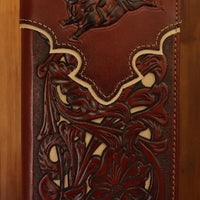Brown Bullrider w/Tan Inlay Wallet 5025-1BR