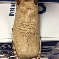 "Anderson Bean Tan Zebra 12"" Wide Square toe"