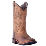 "WOMEN'S LAREDO 5602 11"" TAN ANITA LEATHER WIDE SQUARE TOE BOOT"