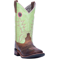 "WOMEN'S LAREDO 5606 11"" CLOVER LEATHER WIDE SQUARE TOE BOOT"